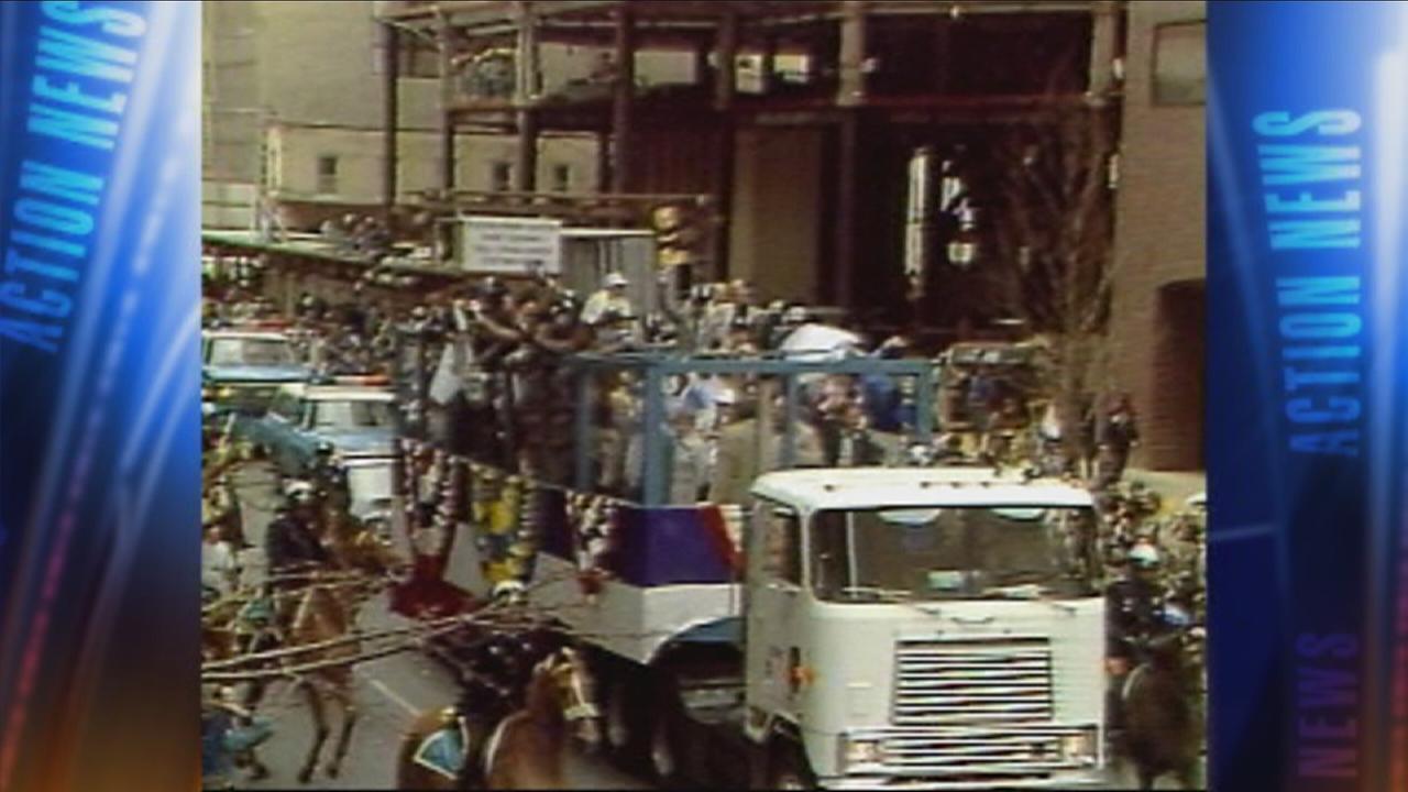 VIDEO: Villanova Wildcats championship parade 1985