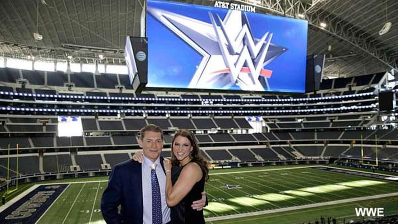 Vince McMahon and Stephanie McMahon at AT&T Stadium.