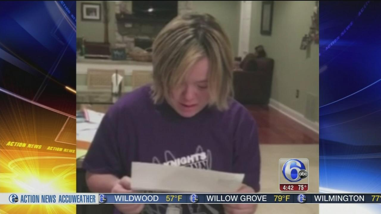 VIDEO: Local student with Down syndrome has emotional response to college acceptance letter