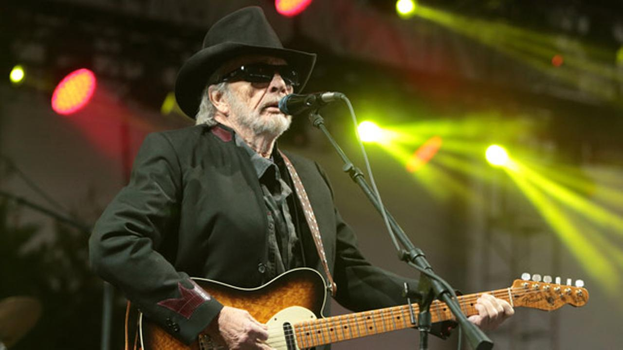 FILE - In this June 28, 2015 file photo, singer-songwriter Merle Haggard performs at the 2015 Big Barrel Country Music Festival in Dover, Del.