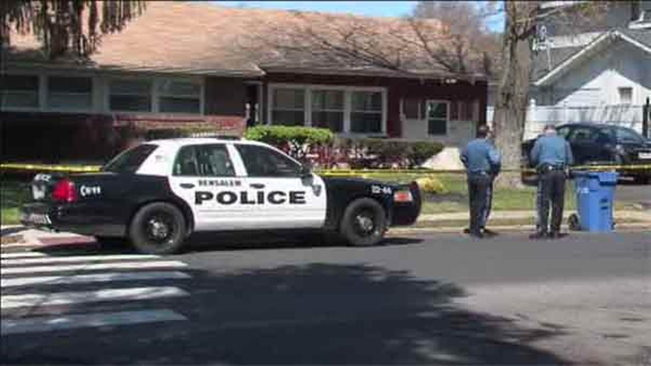 Police say a man is in custody after a shooting that left a woman injured in Bucks County.