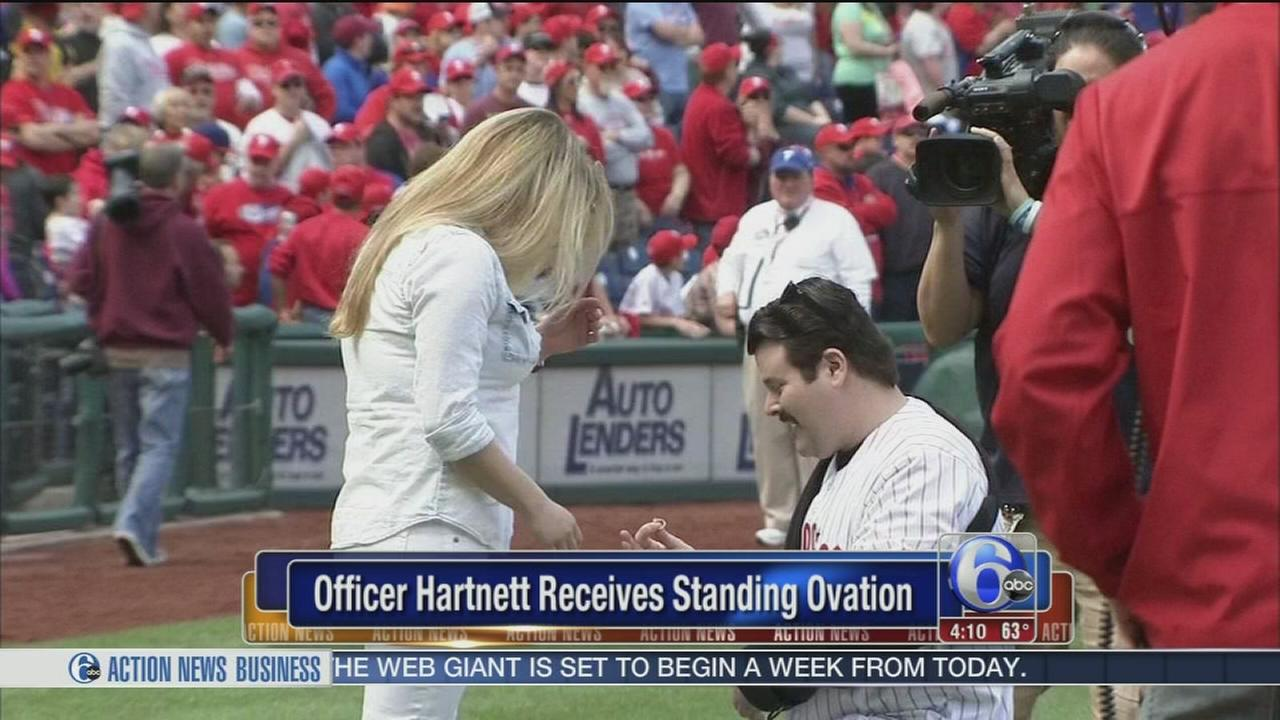 VIDEO: Officer Hartnett proposes to girlfriend