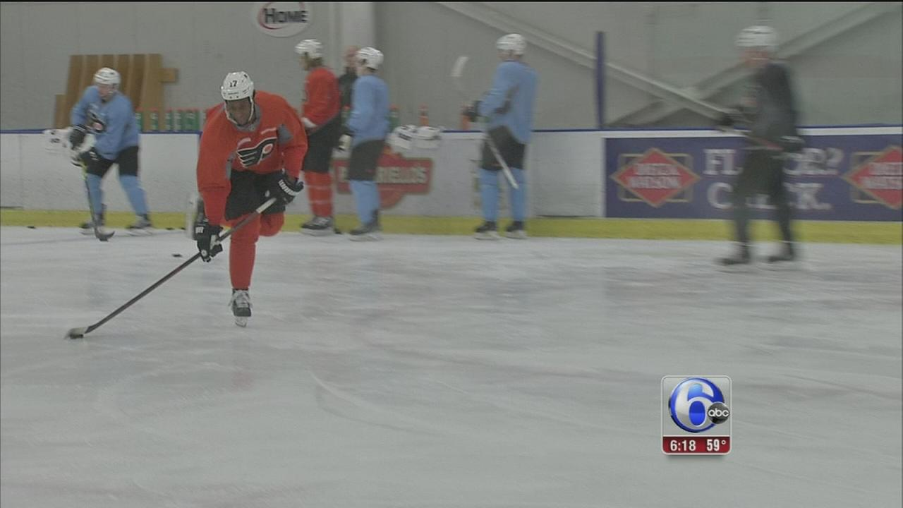 VIDEO: Flyers prepare for Capitals