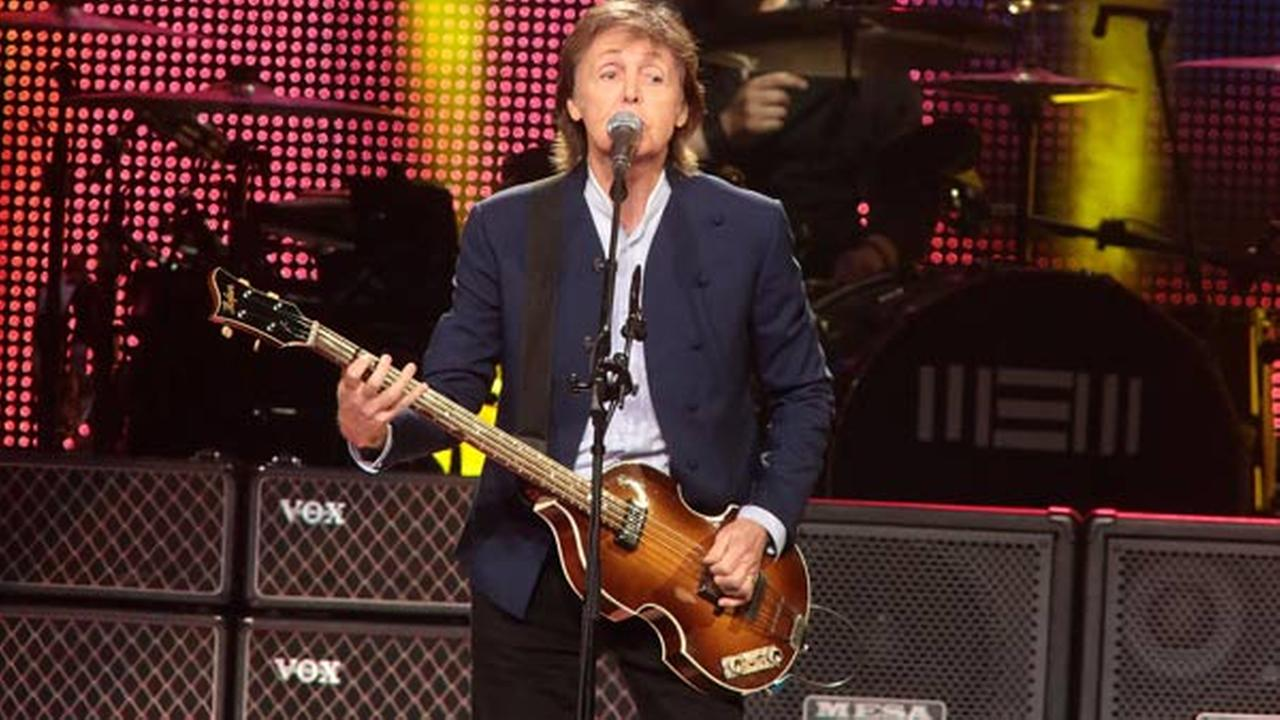 Paul McCartney performs in concert during his Out There Tour 2015 at the Wells Fargo Center on Sunday, June 21, 2015, in Philadelphia.