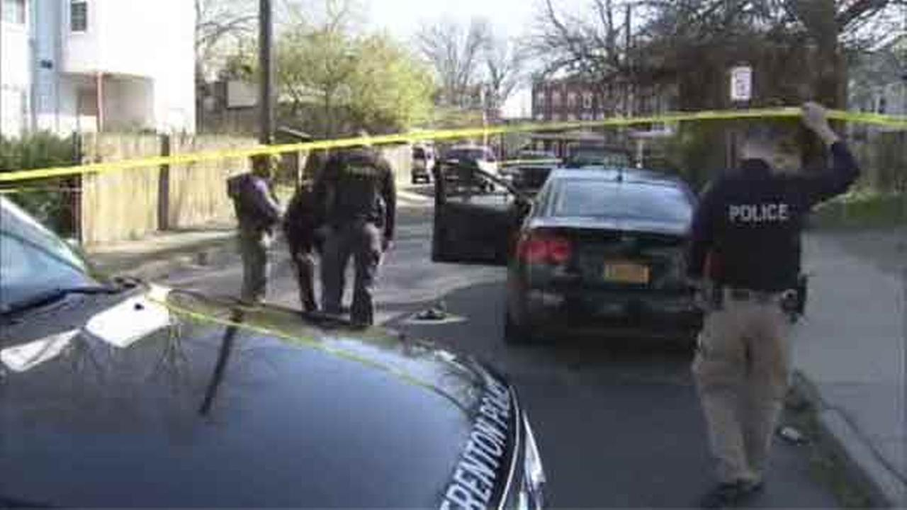 Two suspects are wanted in a shooting that left a male victim injured in Trenton, New Jersey.