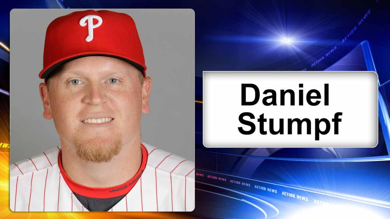 This is a 2016 photo of Daniel Stumpf of the Philadelphia Phillies. This image represents the Phillies active roster on Friday Feb. 26, 2016, in Clearwater, Fla.