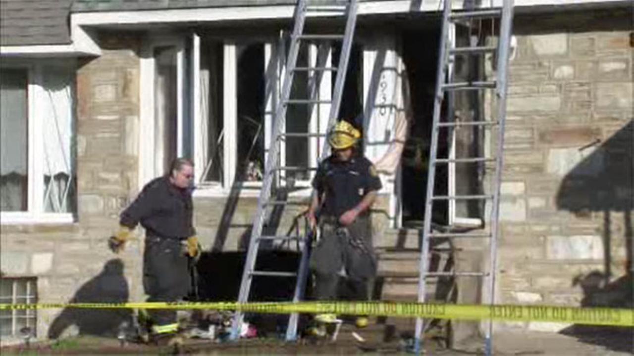 Crews battle basement fire inside NE Philadelphia home