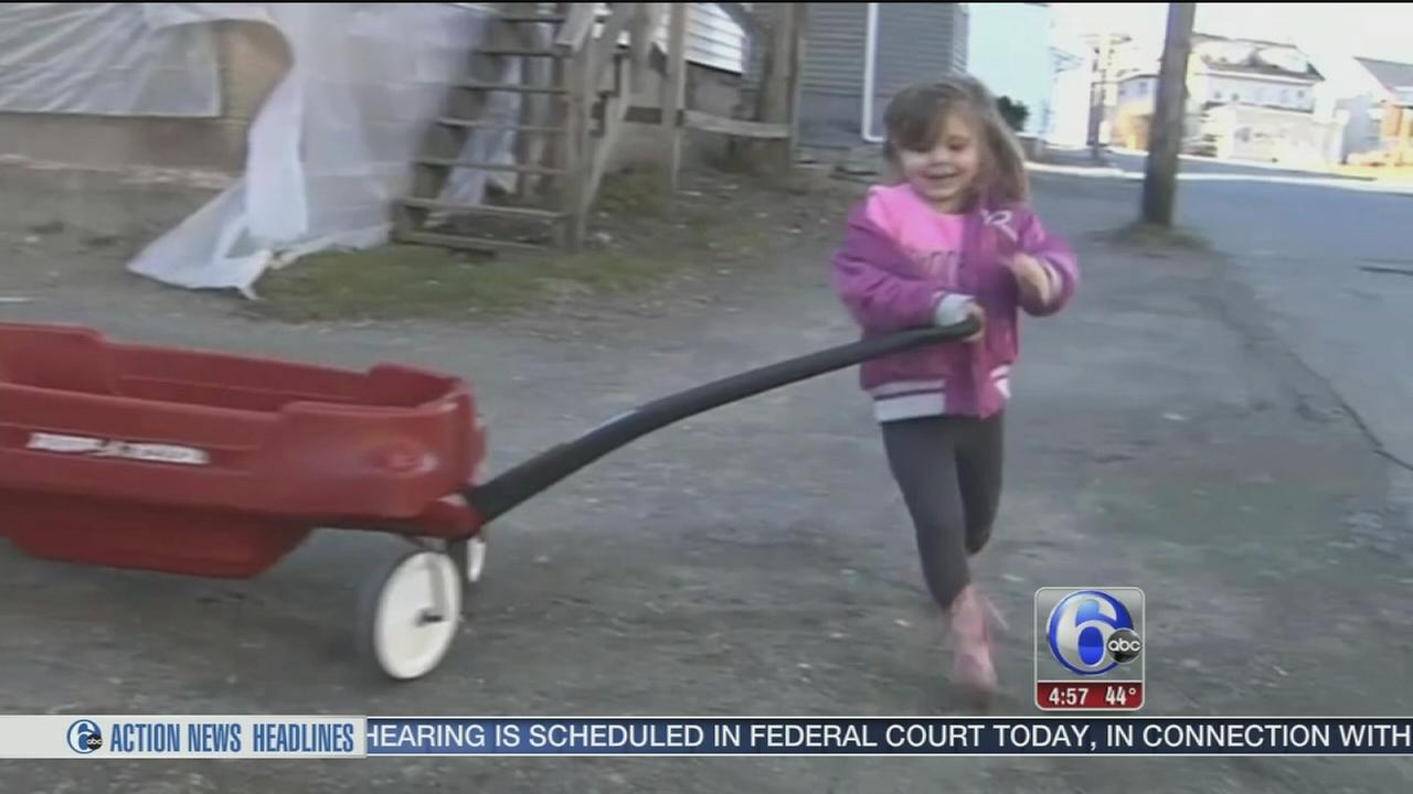 VIDEO: Girl, 4, gets new wheels after wagon stolen