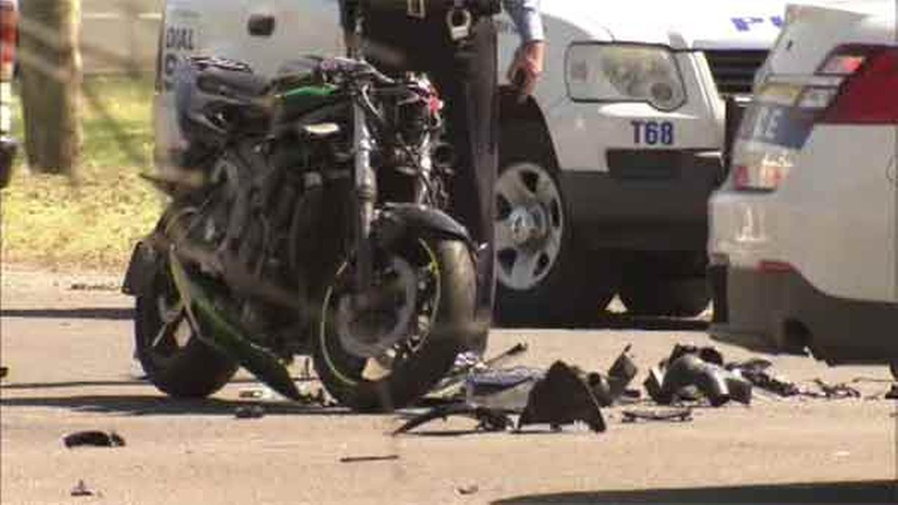 A man was killed after a motorcycle collided with a bus in the Fairmount Park section of Philadelphia.