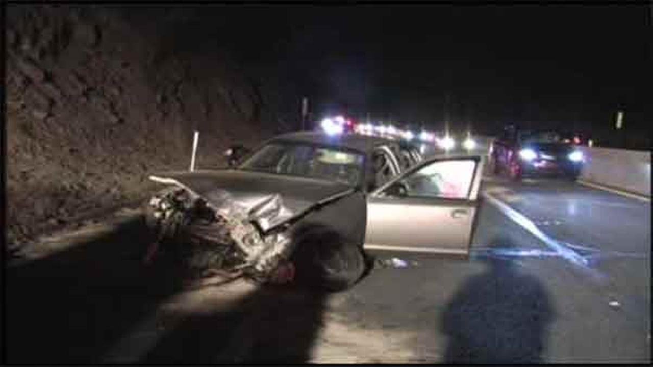 A 21-year-old Philadelphia man was killed and two others were injured in a single-vehicle crash on the Pennsylvania Turnpike in Carbon County.