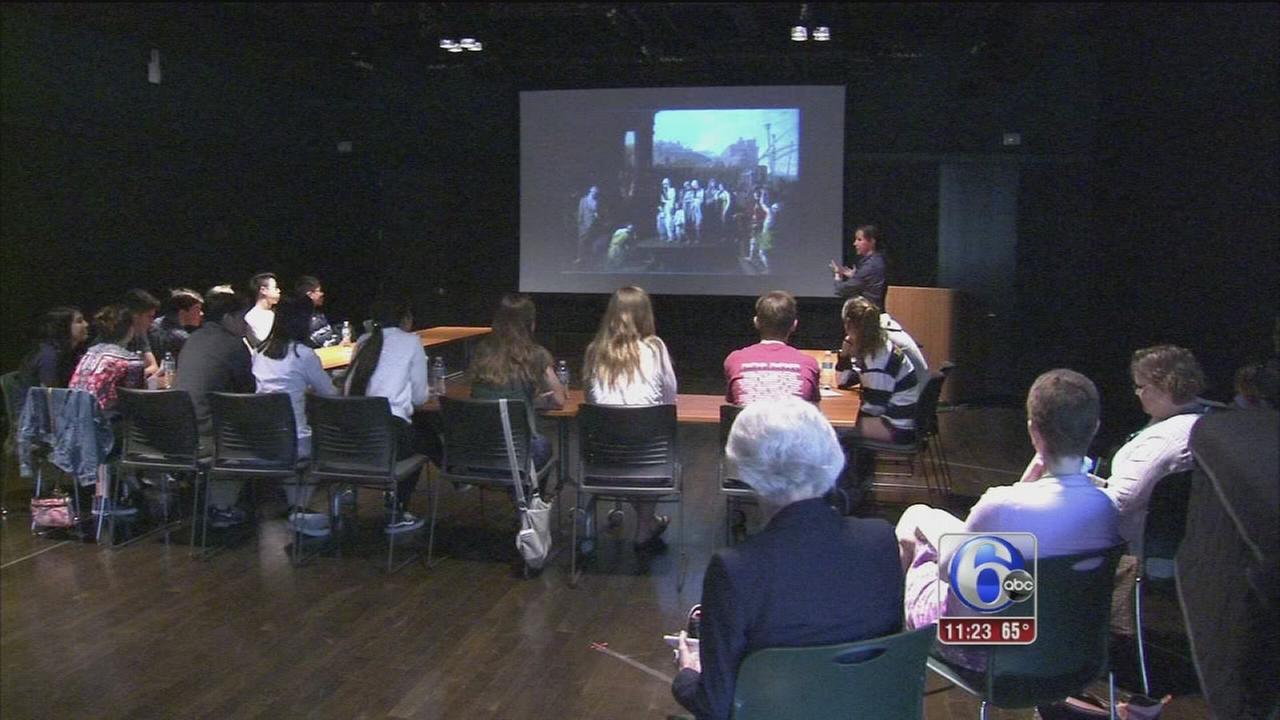 Interactive art seminar at Shipley