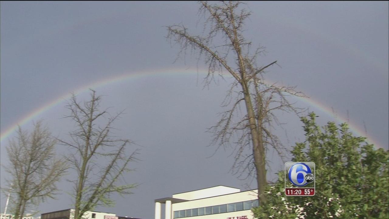 VIDEO: Double rainbows