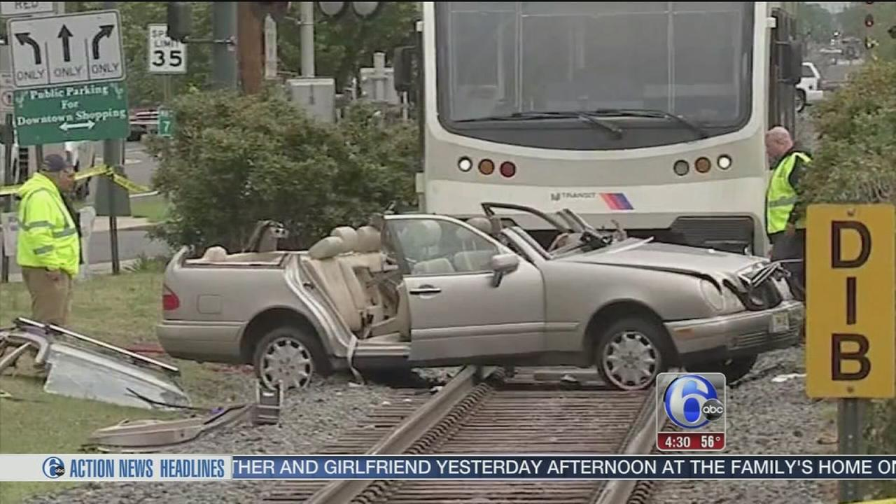 VIDEO: Train collides with car in Riverton