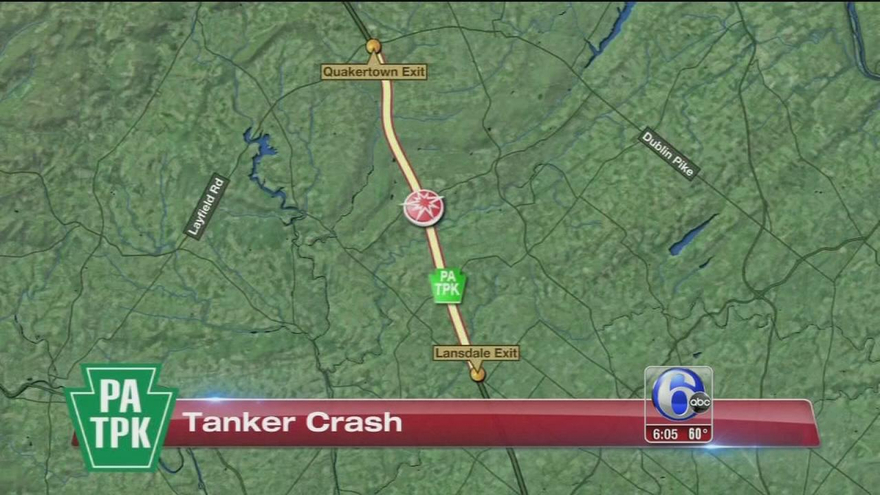 VIDEO: Pa. Turnpike truck crash