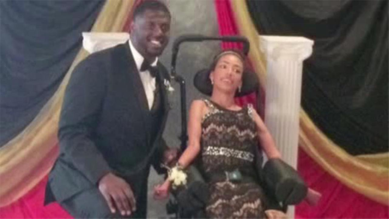 Cam Erving takes teen to prom