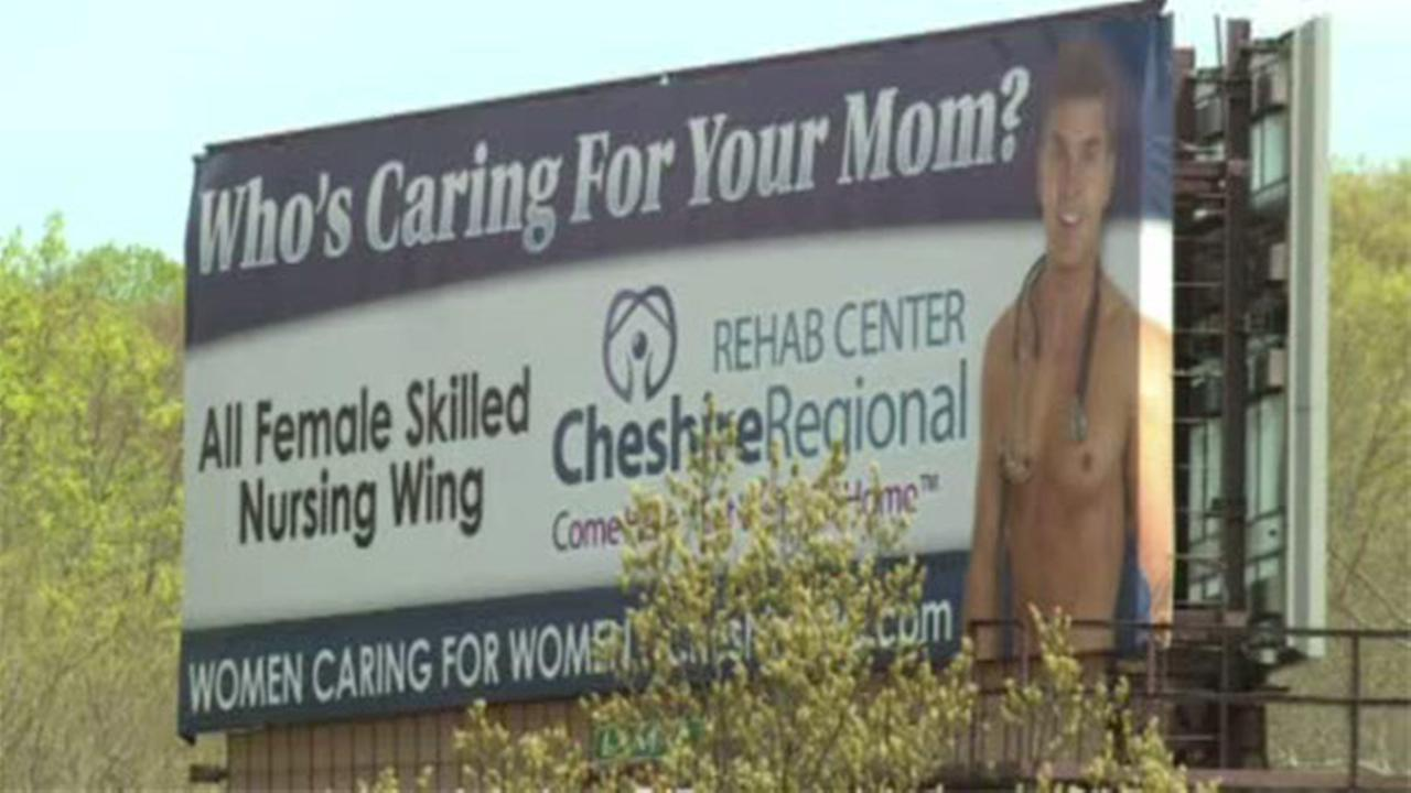 Billboard with shirtless man stirs up controversy