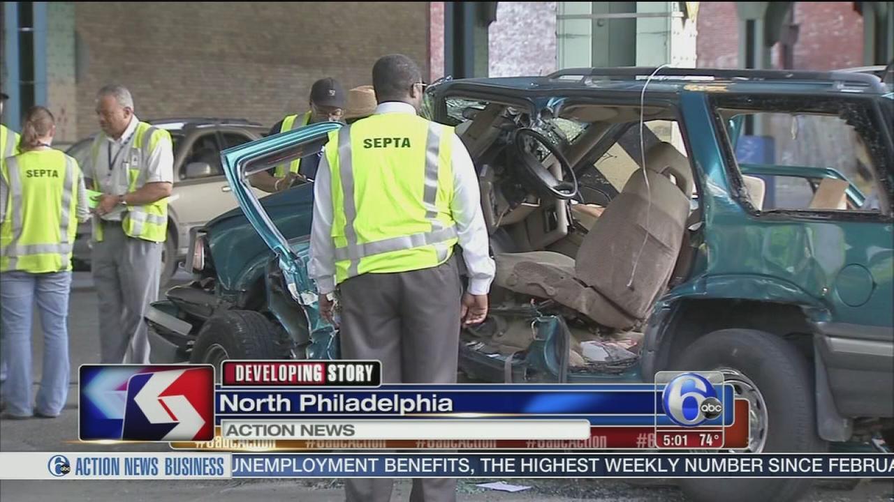 VIDEO: 5 injured in SEPTA trolley collision
