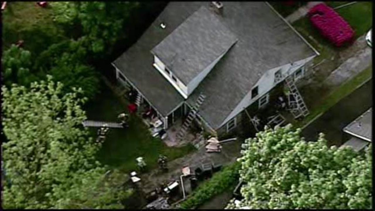 Firefighters battle Abington house fire