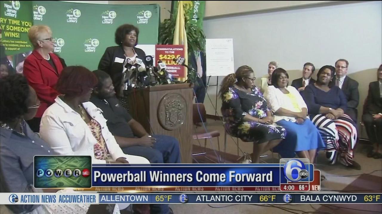 VIDEO: NJ family wins Powerball jackpot