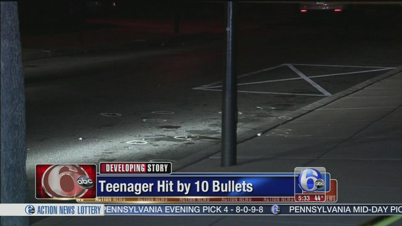 VIDEO: Teen shot 10 times in S. Phila.