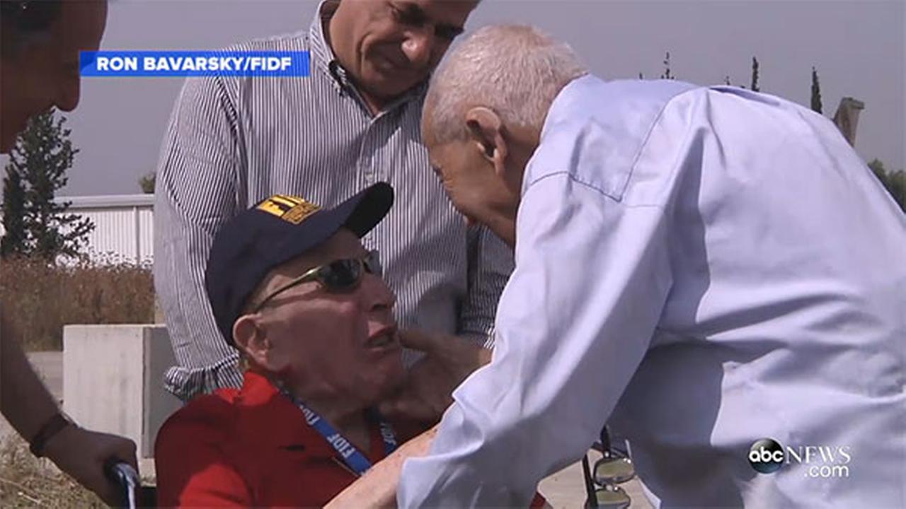 WWII veteran reunited with Holocaust survivor he set free