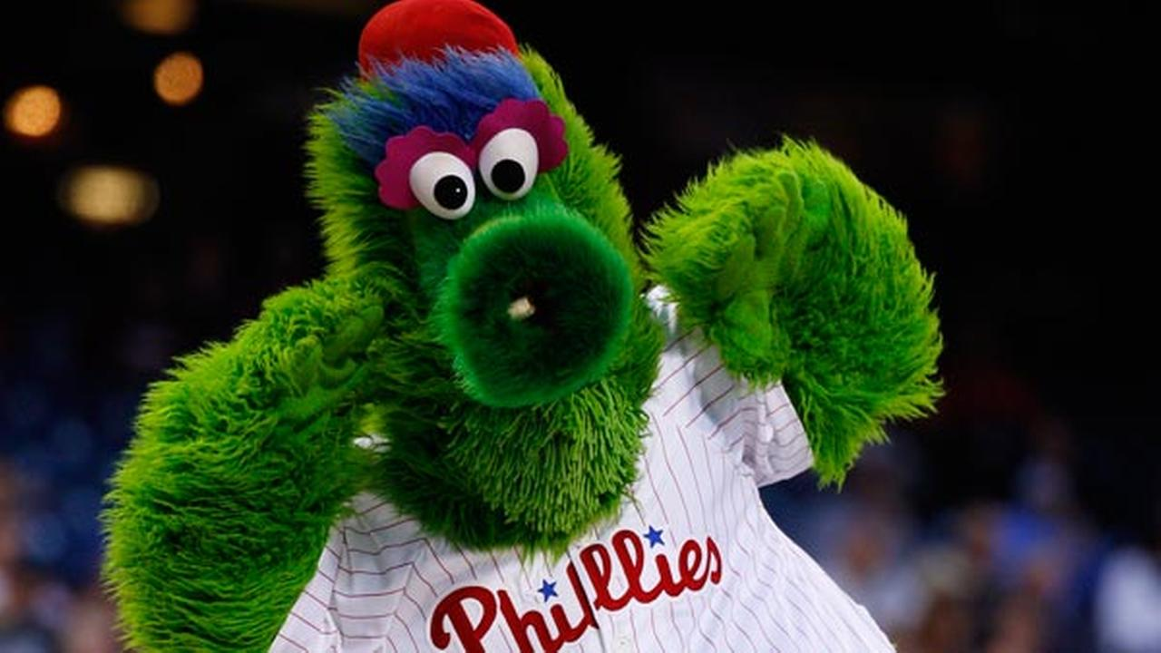 FILE: The Phillie Phanatic in action.