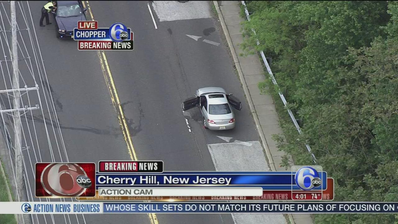 VIDEO: Person struck by car in Cherry Hill