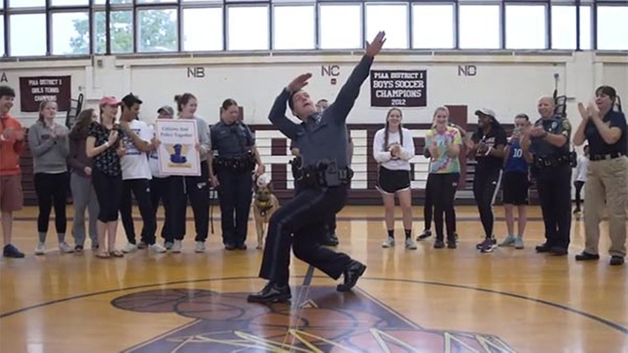 Abington Twp. police take on the 'Running Man Challenge!'