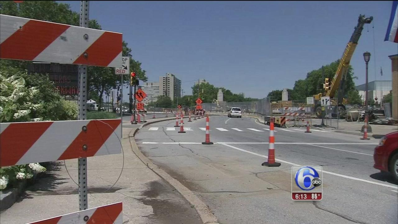 VIDEO: Construction continues on Parkway