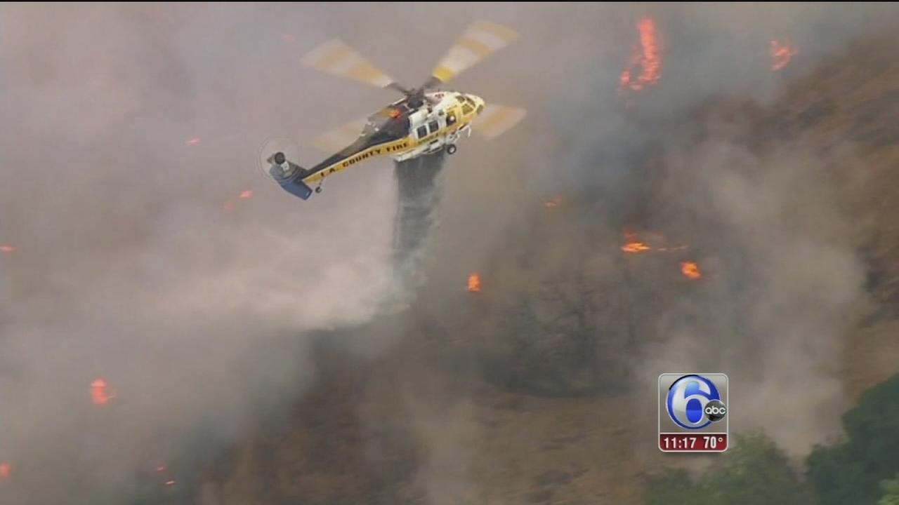 VIDEO: Cali brush fire