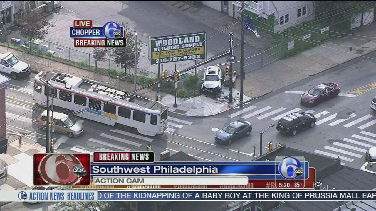 VIDEO: Crash in Southwest Philadelphia