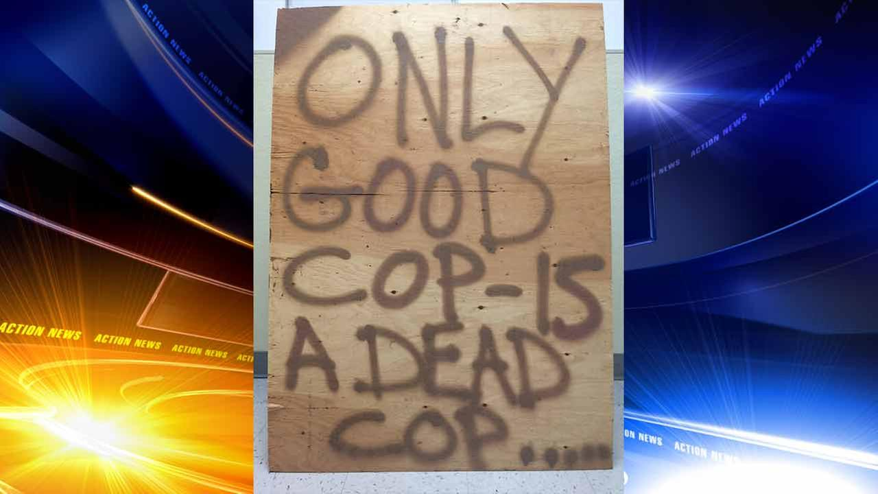 Police in Bucks County issue challenge to 'dead cop' sign-maker