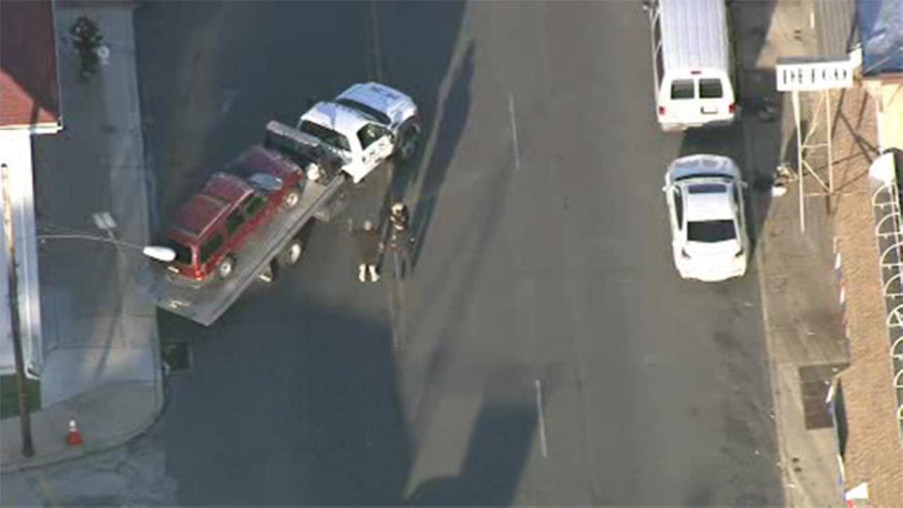 Person injured after ambulance and vehicle collide in Darby
