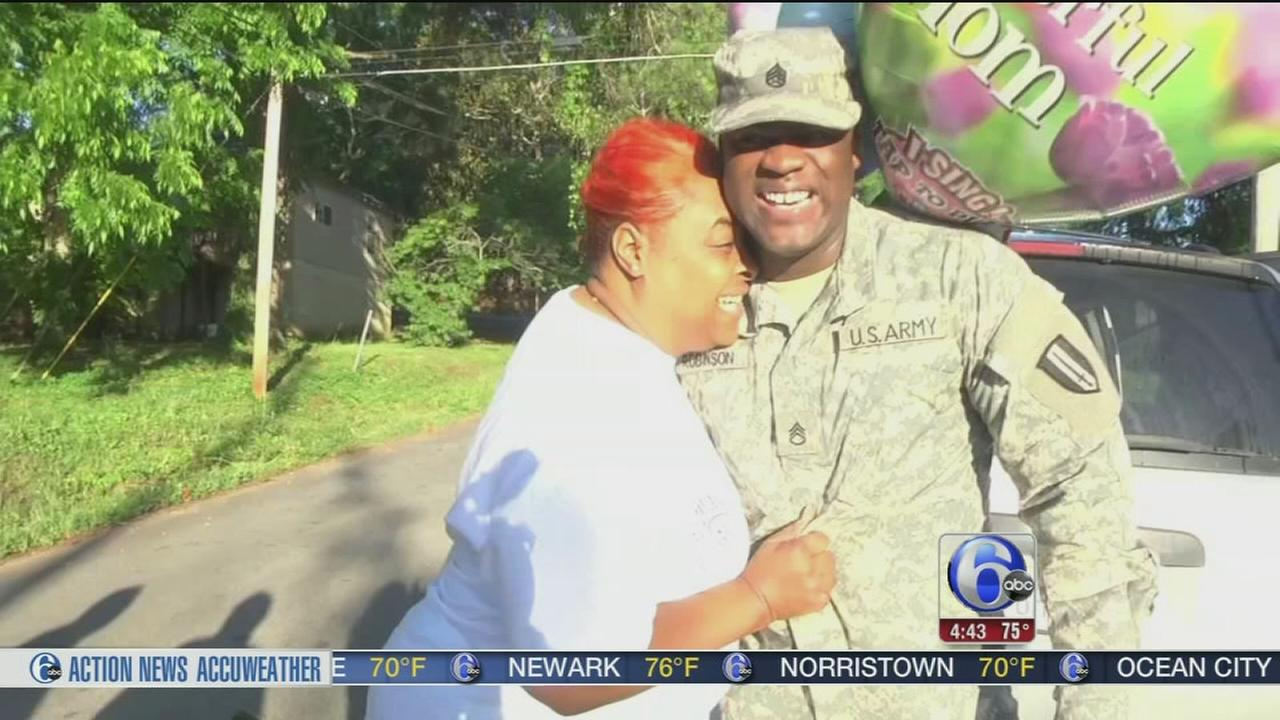 VIDEO: Soldier surprises mom with fake traffic stop