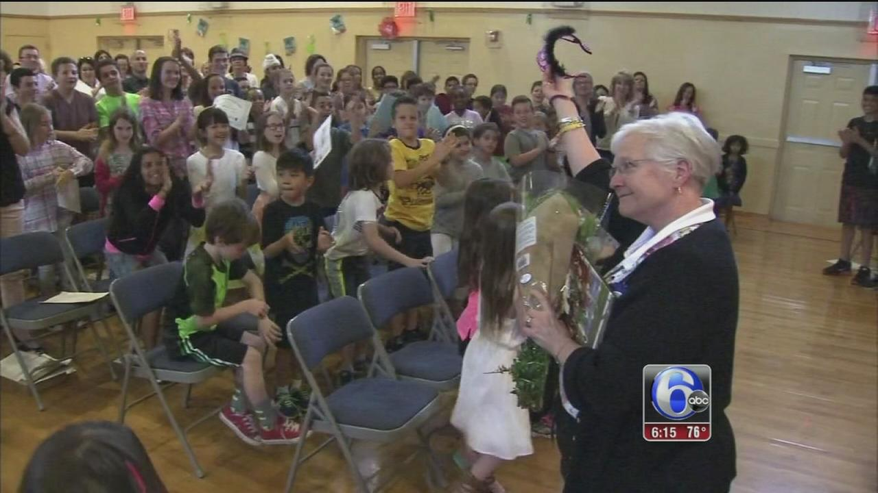 VIDEO: Retiring teacher