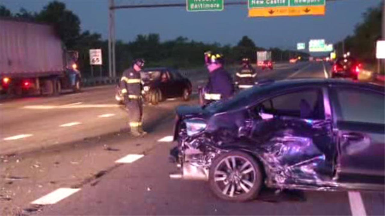 2 drivers injured after crash on I-95 SB in Newport, Del.