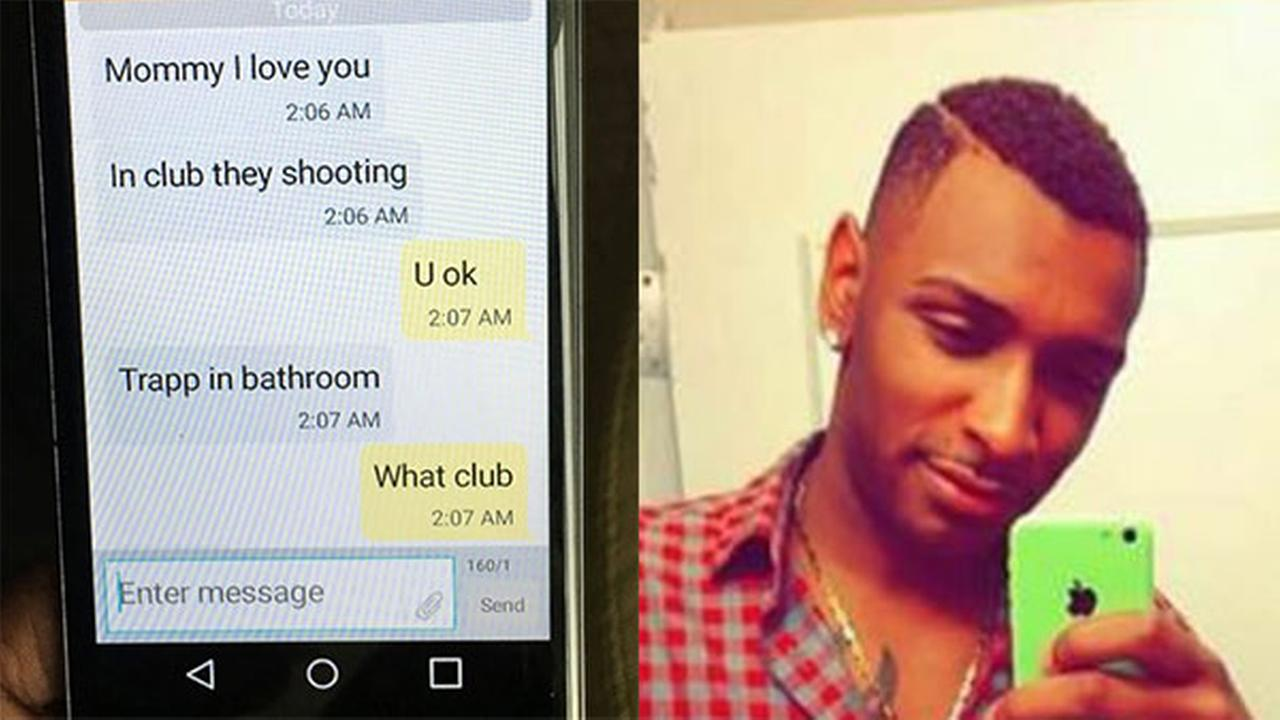 Mother who texted with son in Orlando nightclub learns he died