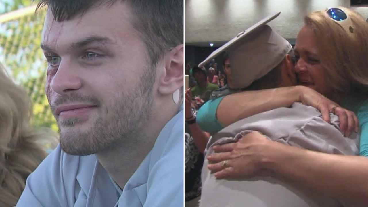 Class reenacts graduation after classmate wakes from coma