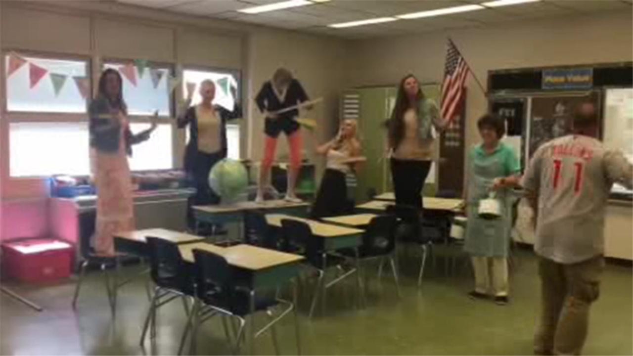 With the help of staff members, West Deptford Middle School student Nic Uff put together an epic music video to Justin Timberlakes hit song Cant Stop the Feeling.