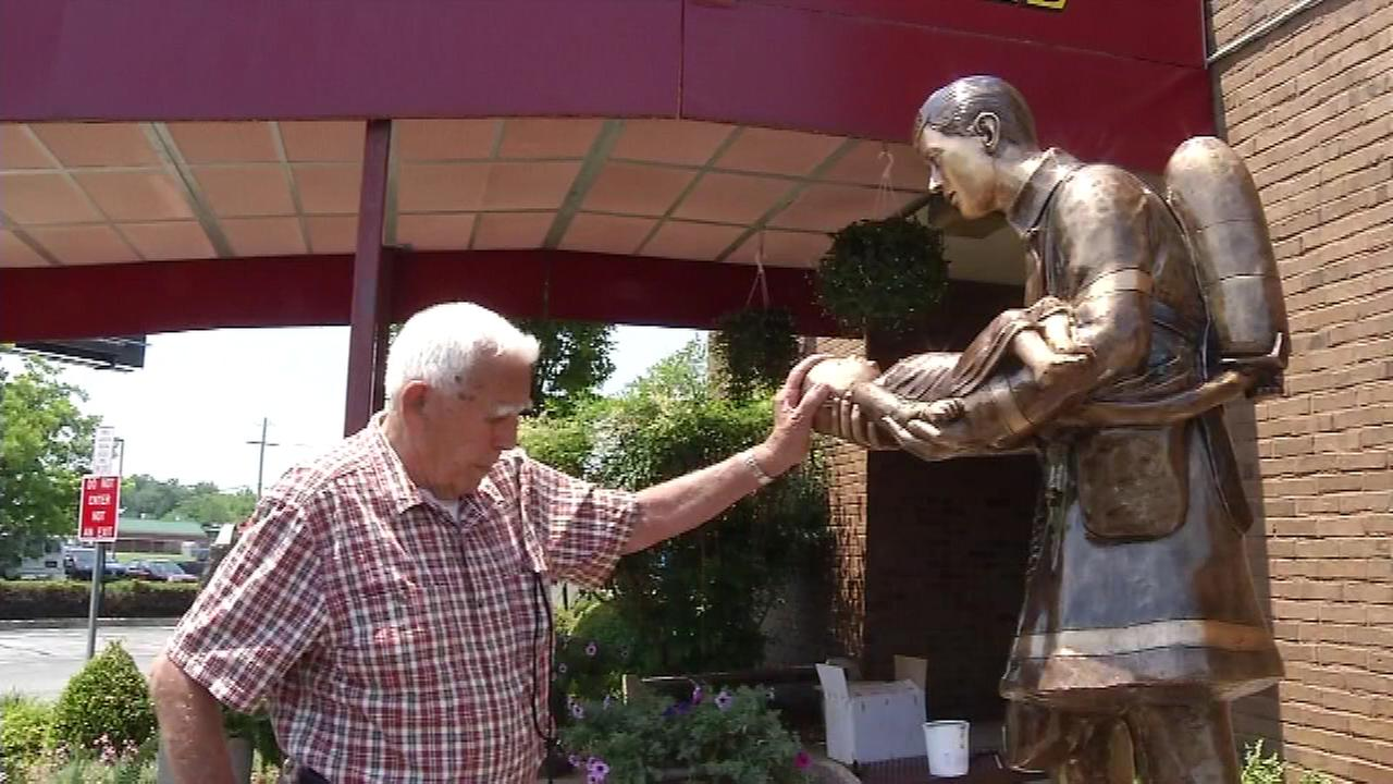 The arrival of a statue in New Castle County, Delaware is bittersweet for a 90-year-old Joe Vattilana.