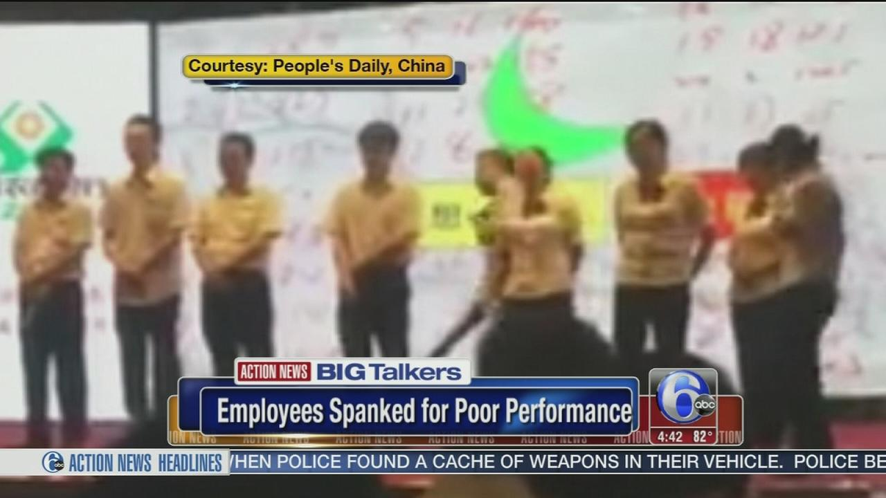 VIDEO: Employees in China publicly spanked for poor performance