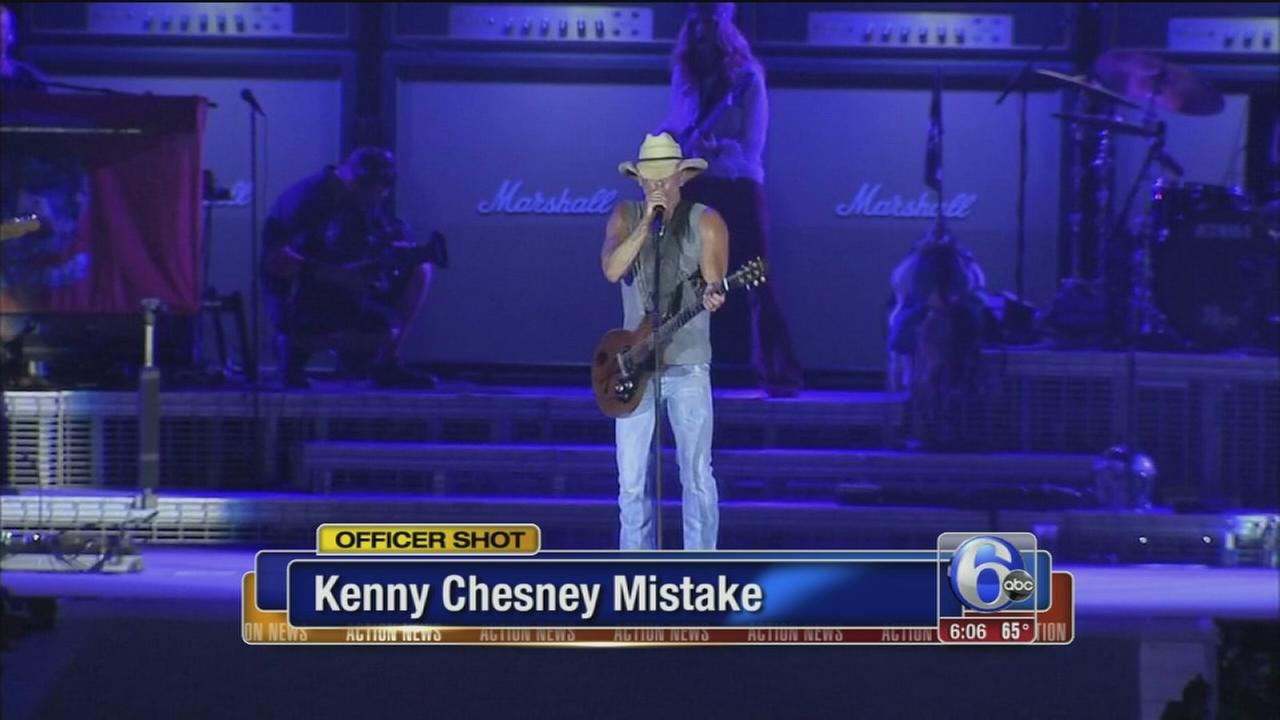 VIDEO: Kenny Chesney mistakenly says officer passed away