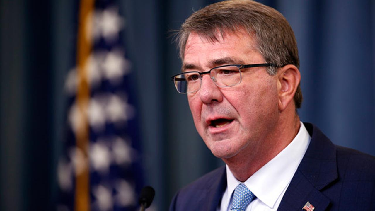 Defense Secretary Ash Carter speaks during a news conference at the Pentagon, Thursday, June 30, 2016.