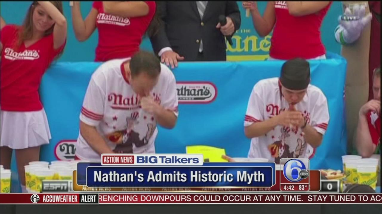 VIDEO: Nathans admits historic myth behind eating contest