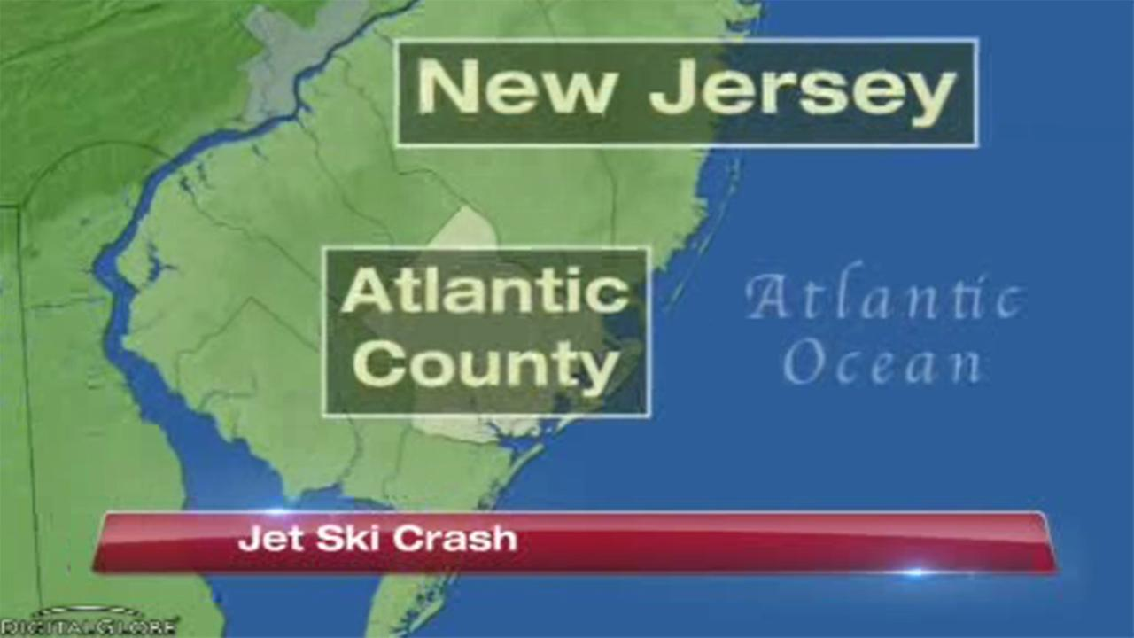 The U.S. Coast Guard rescued three people after a watercraft accident in Atlantic City, New Jersey.