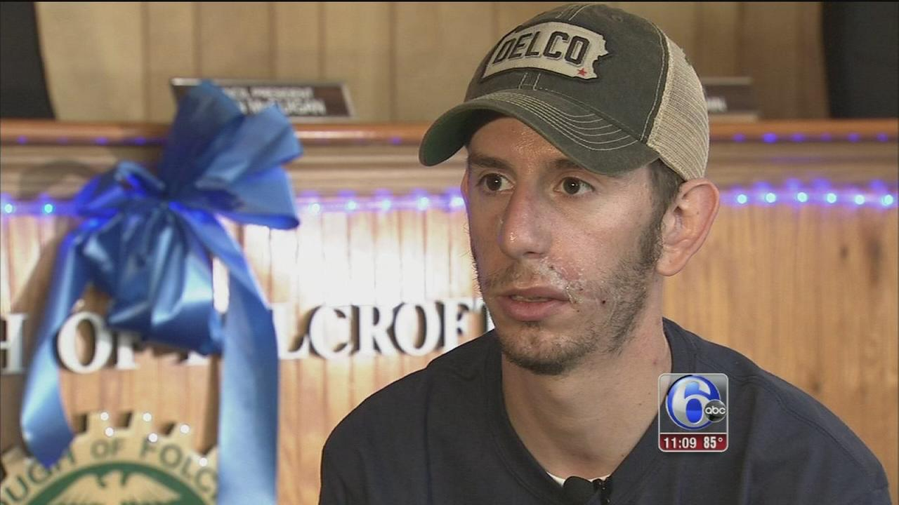 VIDEO: Folcroft officer speaks about surviving shooting