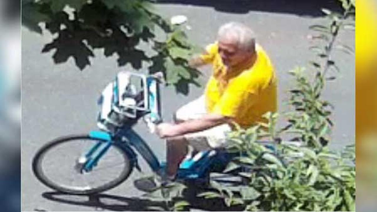 Philadelphia police are looking for a suspect who stole a package from outside a home in Center City on June 30.