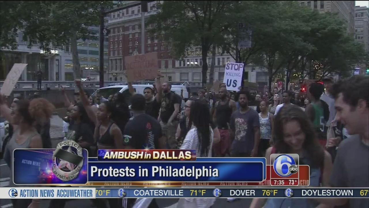 VIDEO: Protesters rally at Philadelphia City Hall