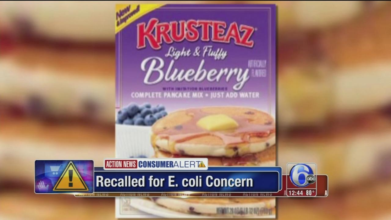VIDEO: Pancake mix recalled for possible e. coli contamination