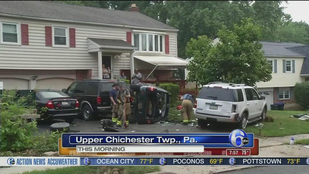VIDEO: Rollover crash in Upper Chichester